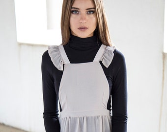 Holy Wing Pinafore - Misty Grey