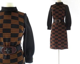 1960s Mod Dress / La Moda / 60s Dress / Knit Dress / Italian Dress / Small S