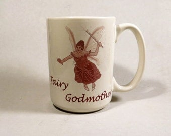 Fairy Godmother Coffee Mug Large 13 Oz White Tea Coffee or Beverage Cup