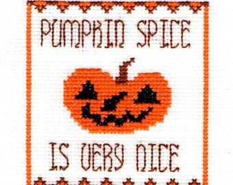 Pumpkin Spice Cross Stitch Pattern Download