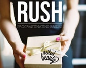 RUSH FEE: Domestic Rush Fee (Item Needed Within 6 Weeks or less), International Rush Fee (Item Needed Within 8 Weeks or less)