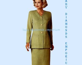 329 Butterick 4714 Womens Unlined Jacket & Slim Skirt size 18 20 22 Bust 40 42 44 Ladies Suit Easy Plus Size Vintage Sewing Pattern Uncut