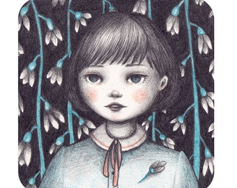 Snowdrop - Original Drawing