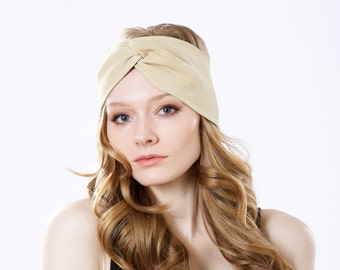 Ear Warmer Suede Leather Headband Turban Headband Fall Fashion Women's Headband Boho Chic Gift For Her Faux Suede Earmuff Tan Vegan Suede