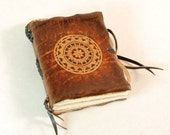 Compass Travel Pocket Leather Book / Journal / Notebook