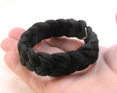 black paracord rope bracelet turks head knot sailor rope bracelet braided bracelet wristband armband  1581
