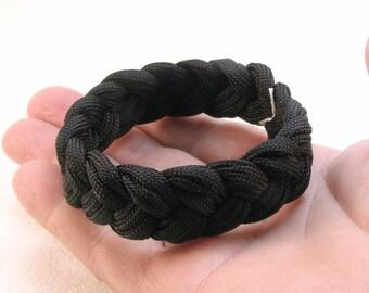 black paracord rope bracelet turks head knot sailor rope bracelet braided bracelet wristband armband  1581