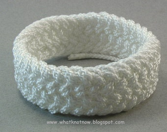 white nylon herringbone weave cord bracelet arm band nautical cuff bracelet rope jewelry nautical jewelry 3671
