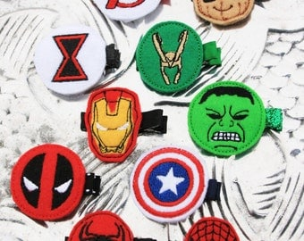 Marvel-ously fantastic Clippies, Your Choice of Marvel Hero Inspired Hair Clip
