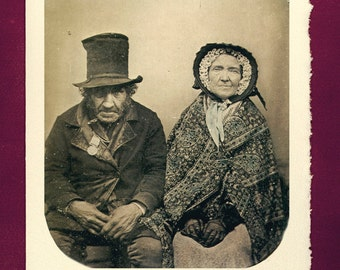 Greeting Card - Love - Victorian photograph george esther radiant anniversary present birthday gift wedding old couple relationship life