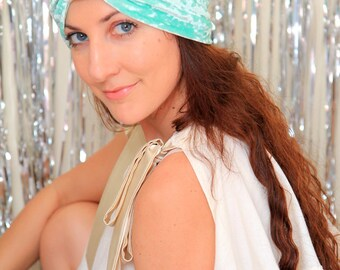 Crushed Velvet Turban in Mint Green - Fashion Hair Wrap - Lots of Colors