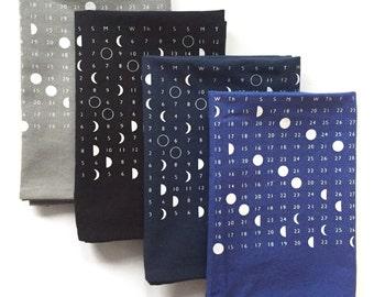 Kitchen Towel, Moon Towel, Calendar 2018, Moon Calendar 2018, Moon Phases Print, Full Moon Calendar, Moon Phase Calendar, Lunar Calendar