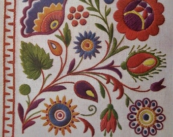 Vintage Embroidery Book 1920s 1930s Broderies Tcheco-Slovaques / Czecho-Slovakian Embroideries early FRENCH edition antique needlework book