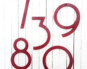 Large Numbers, Modern House Numbers, Mid Century Modern Iron Decor, bers, Anthropologie Decor, Modern Style House Numbers