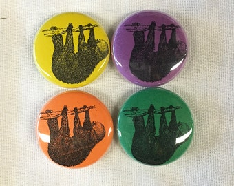 """Tree SLOTH Magnet or Pinback Button 1"""""""