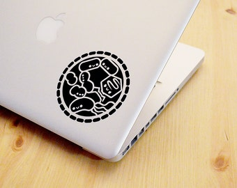 Microbiology Decal, Biology Christmas Gift, Science Gift, Biology Decal, Science Decal, Bacteria, Virus, Cute, Geeky, roocharms