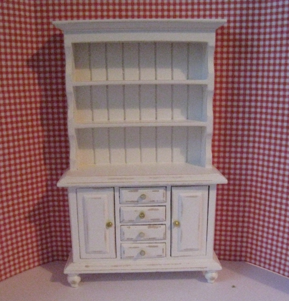 dollhouse kitchen hutch small hutch white by