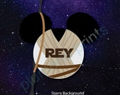 Rey Star Wars Mouse Head Magnet for Disney Cruise Stateroom Door