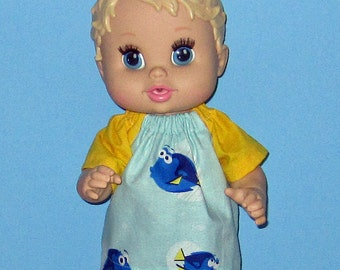 Corolle Tidoo Or Calin Doll  Baby Alive Doll Clothes  Finding Dory Set Fits 12 13  Inch Doll   Doll Clothes
