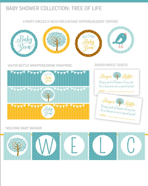 of Life Baby Shower Party Decorations, Tree Baby Shower Party Decor ...