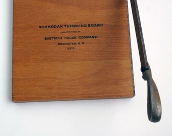 No. 2 Kodak Trimming Board, 7 inch antique 1920's wooden photo trimmer