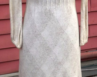 Maxi Mod Knit Dress Natural Sand colors