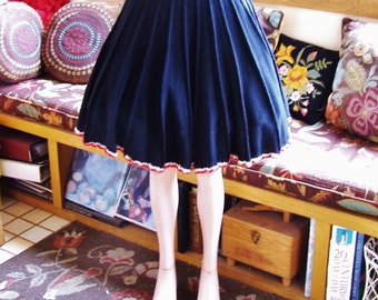 SALE, Black Knit skirt, Black skirt, Vintage skirt, Pleated skirt, size M