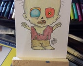 Original drawing ACEO Zombie
