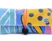 Button Clutch - Ken Done Tropical Reef vintage fabric