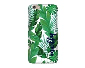 Monogrammed iPhone 6 / iPhone 6 plus case - PALM LEAF Collection