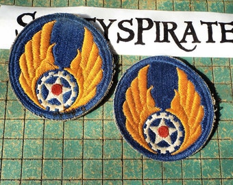 1947-1950  Air Force Patches, Air Material Command, early USAF, original,  gear and wings, great for military collection, or steampunk