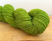 Beetle Wings - Walker - merino nylon sock yarn acid lime beetle green tonal semi-solid acid