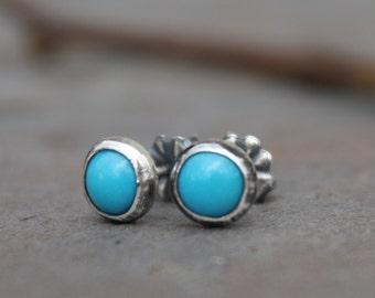 Turquoise Ear Studs - Sleeping Beauty Turquoise - Small Ear Studs