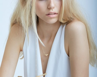 SALE Triangle Gold Layer Necklace
