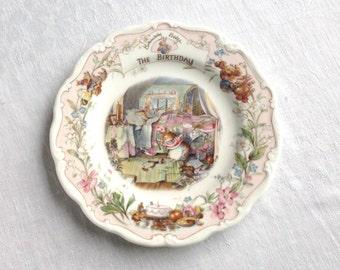 Birthday Brambly Hedge China Plate 8 Inch