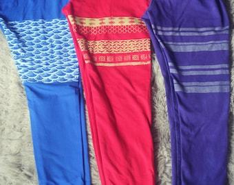 yoga pants, yoga outfit, mermaid pants, striped leggings, mermaid leggings, yoga clothes, organic clothing, organic yoga clothing