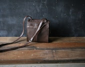 Leather Crossbody Purse and Organizer to Keep life and Work In Order Made by Clark  From Nowvintage on Etsy