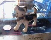 vintage dog figurine terrier ceramic