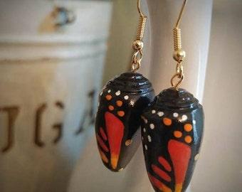 Monarch Chrysalis Earrings