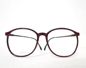 sale Burgundy Speckled Urban Camouflage Vintage 80s Big Round Disco Eyeglass Sunglasses Frame Hip Hop Preppy Twin Peaks Black Brown P3 Panto