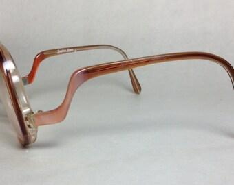1970s Sophia Loren Zyloware Over-Sized Amber Glasses