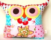 Thanksgiving /PATCHWORK  owl pillow/flower pillow/ room decor/for her /Ready to ship/Express shipping