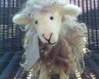 Needle felted standing sheep