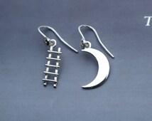 dreamer - earrings moon ladder in sterling silver