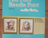 vintage petit point  needlepoint patterns PAIR no. 1076 PATTERN ONLY Alice Godkin