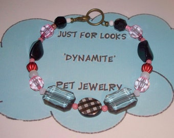 Dog Cat Necklace - Dog Necklace - Pet Necklace - Just For Looks Dynamite Pet Jewelry - Pet Accessories - Handmade Jewelry - Donate - Dogs