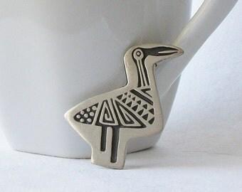 Vintage Aztec Bird Brooch