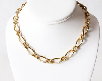 Vintage Goldtone Chain Erwin Pearl Necklace
