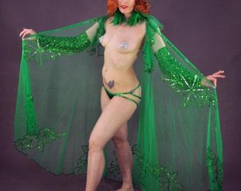 "Crystal AB Burlesque Pasties Crystals Aurora Borealis 2.25"""