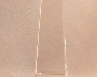 Tiffany & Company Crystal Obelisk, Tiffany Presentation Crystal, Tiffany and Company, Collectible Tiffany Glass, **USA ONLY**